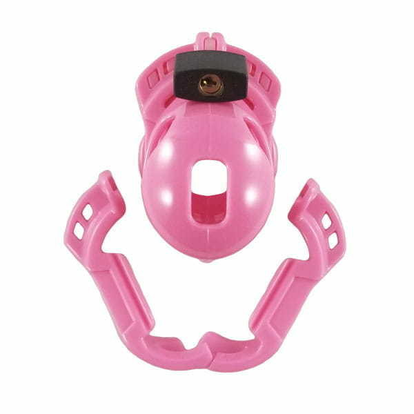 Full Assembly of The Vice Mini Pink Chastity Cage