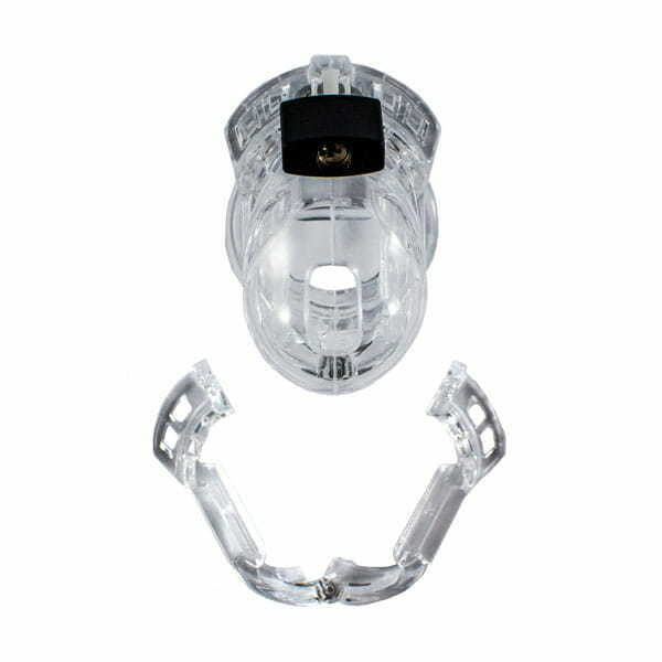 Clear Sissy Chastity Cage The Vice Mini Full Assembly